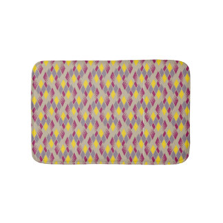 Retro diamond pattern 4 bath mat