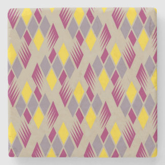 Retro diamond pattern 4 stone coaster