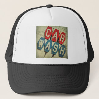 Retro Diamond Shaped Car Wash Sign Trucker Hat