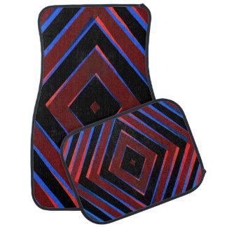 Retro diamond shapes pattern car mat