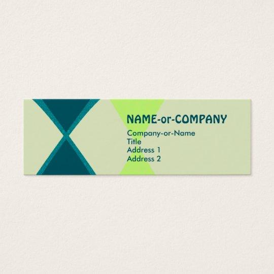retro diamonds : mini business card