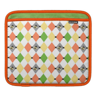 Retro Diamonds with Bee Pattern Sleeves For iPads