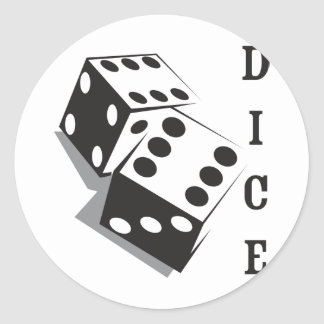 Retro Dice Classic Round Sticker