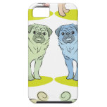 RETRO different coloured pug dogs iPhone 5 Cover