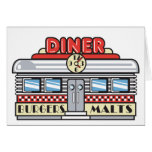 retro diner design greeting card