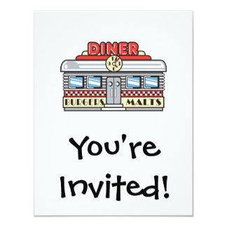 retro diner design 11 cm x 14 cm invitation card
