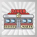 retro diner design poster