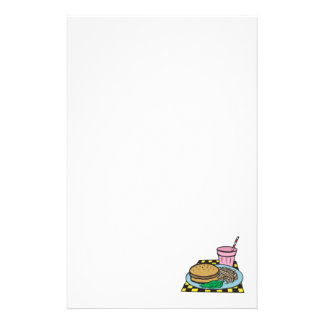 retro diner fast food meal stationery