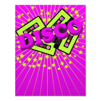 Retro Disco Party 11 Cm X 14 Cm Invitation Card