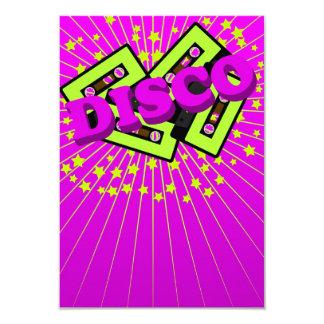 Retro Disco Party 9 Cm X 13 Cm Invitation Card