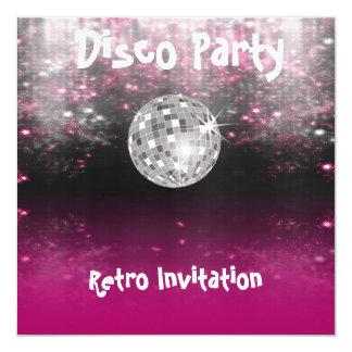 Retro Disco Party invitation