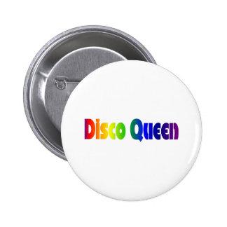 Retro Disco Queen 80s Button