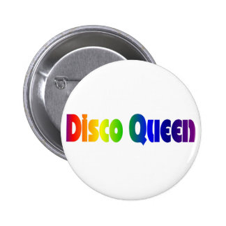 Retro Disco Queen Pinback Buttons