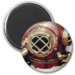 Retro Diving Helmet Magnets