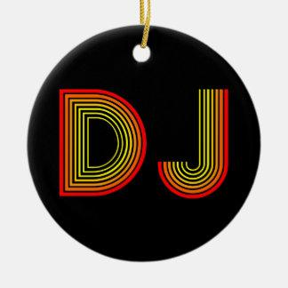 retro DJ Christmas Ornament