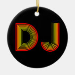 retro DJ Christmas Ornaments