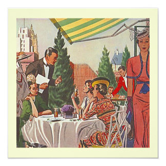 Retro Do Lunch Invitations Lady Friends together