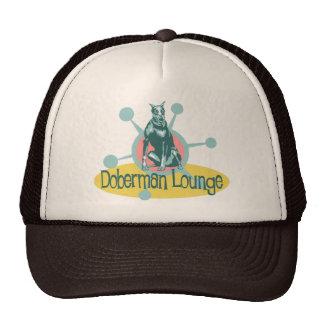 Retro Doberman Lounge Trucker Hats