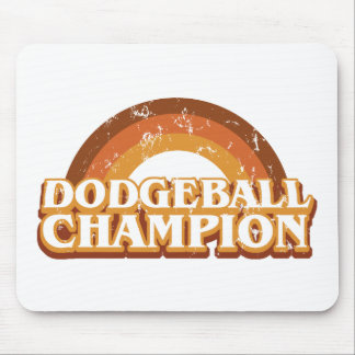 Retro Dodgeball Champion Mousepad