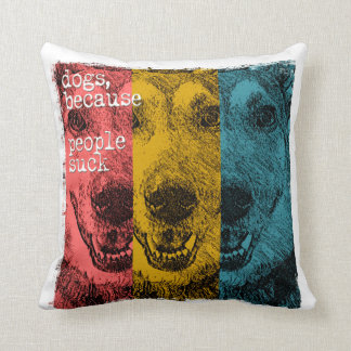 Retro dogs, because people suck cushion