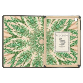Retro Doily Green Beige Kaleidoscope Cover For iPad Air