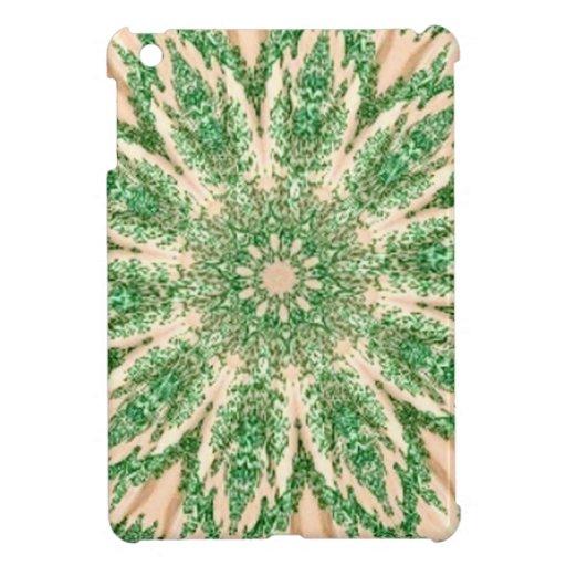 Retro Doily Green Beige Kaleidoscope iPad Mini Covers