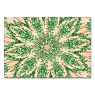 Retro Doily Green Beige Kaleidoscope Table Cards