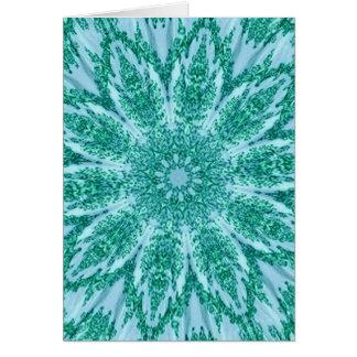 Retro Doily Green Teal Kaleidoscope Cards