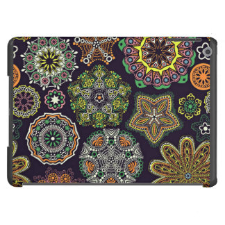 Retro Doily Patterns Multicolored iPad Air Covers