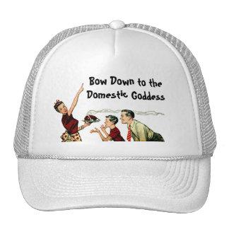 Retro Domestic Goddess Mesh Hat