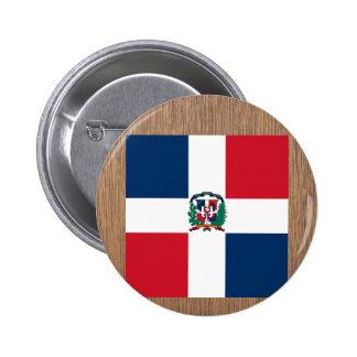 Retro Dominican Republic Flag 6 Cm Round Badge