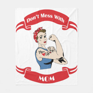 Retro Don't Mess with MOM Fleece Blanket