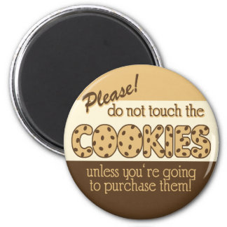 Retro Don't Touch the Cookies 6 Cm Round Magnet