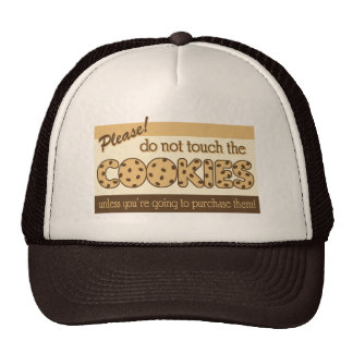 Retro Don't Touch the Cookies Mesh Hat