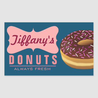 Retro Donut Shop | Donuts Baker | Doughnut Bakery Rectangular Sticker