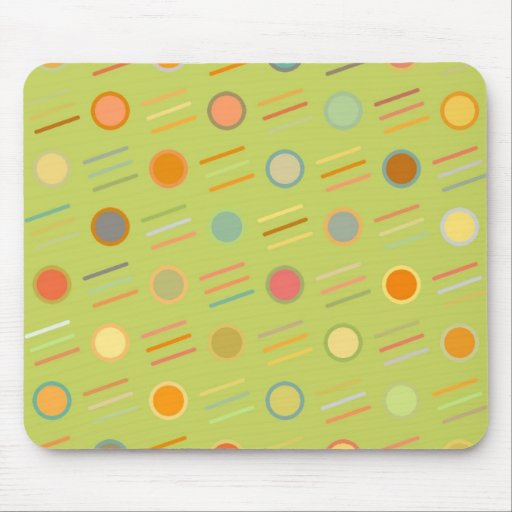Retro Dots and Lines Mousepads
