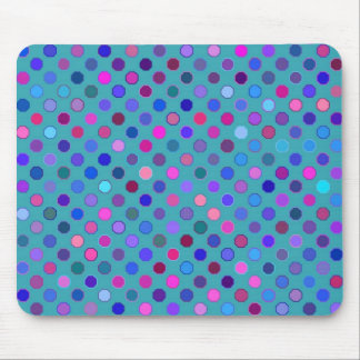 Retro Dots Bright Mouse Pad