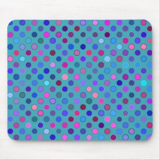 Retro Dots Bright Mousepad