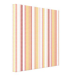 Retro Dots Colorful Stripes Rainbow Canvas Stretched Canvas Print