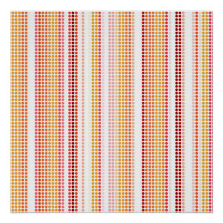 Retro Dots Colorful Stripes Rainbow Poster
