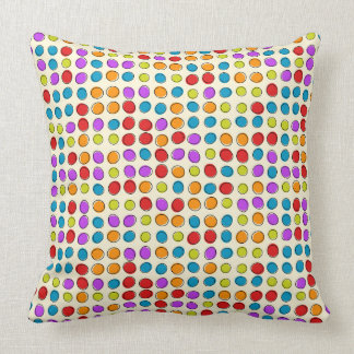 Retro Dots Designer Throw Pillow by Julie Everhart