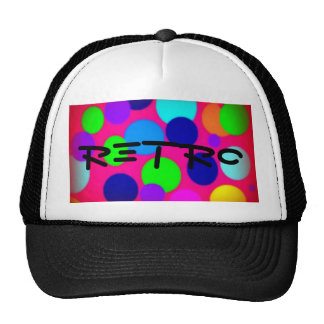Retro Dots Neon Trucker Hats