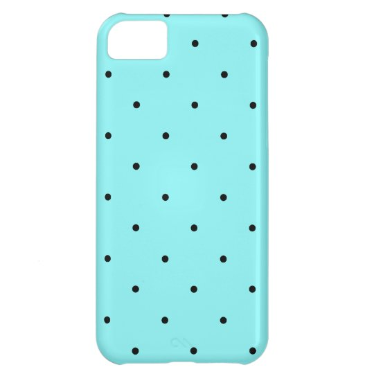 Retro dots on blue iPhone 5C case