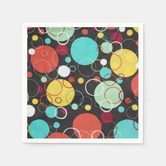 Retro Dots Paper Napkins