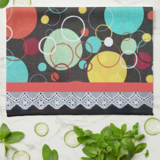 Retro Dots Tea Towel