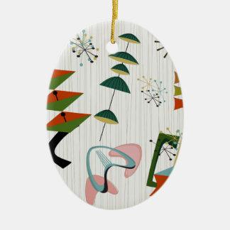 Retro Eames-Era Atomic Inspired Christmas Ornament