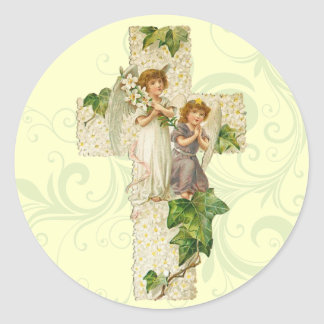 Retro Easter Angel Stickers