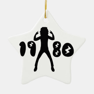 Retro Eighties Man Ceramic Star Decoration