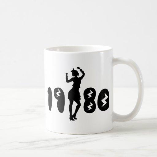 Retro Eighties Woman Coffee Mugs
