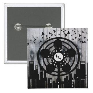 Retro Electric Fan City at Night Button